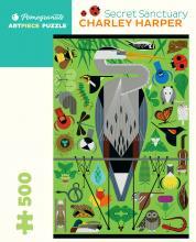500 piece Charley Harper: Secret Sanctuary jigsaw puzzle